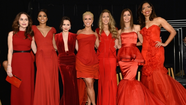 Go Red For Women - The Heart Truth Red Dress Collection 2014 Show Made Possible By Macy's And SUBWAY Restaurants - Backstage