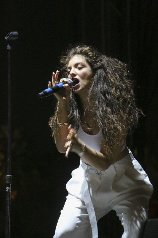 Lorde performs onstage during day 2 of the 2014 Coachella Valley Music & Arts Festival at the Empire Polo Club on April 12, 2014 in Indio, California