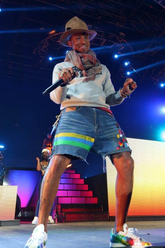 Pharrell Williams performs at Coachella