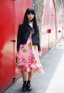 susie-lau-style-bubble-Comme-des-Garçons-paper-dress-floral-acne-biker-jacket-nicholas-kirkwood-shoes