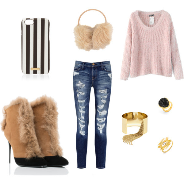Bianca Shearling bootie polyvore